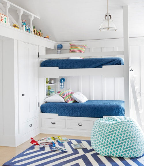 kids room with beanbag chair