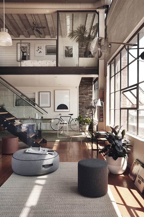 loft-with-designer-furniture-ottoman
