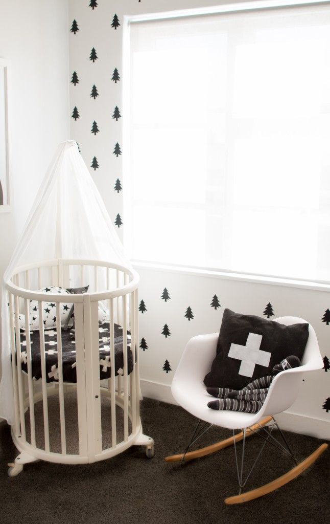 nursery with designer chair