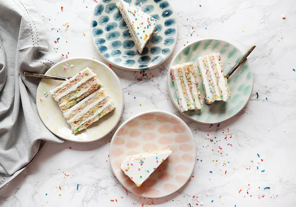 Confetti Dessert Plates - Set of 4 - Stuck in the Mud Pottery