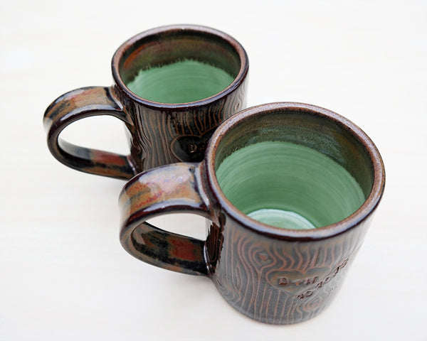 Brown Woodland Pottery Mug - Stuck in the Mud Pottery