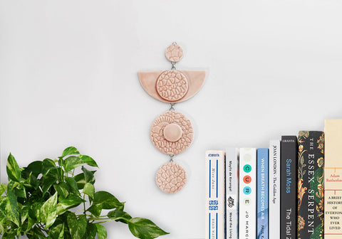 Moon Eye Ceramic Wall Hanging - Pink - Stuck in the Mud Pottery