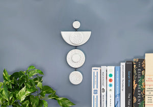 Moon Eye Ceramic Wall Hanging - White - Stuck in the Mud Pottery