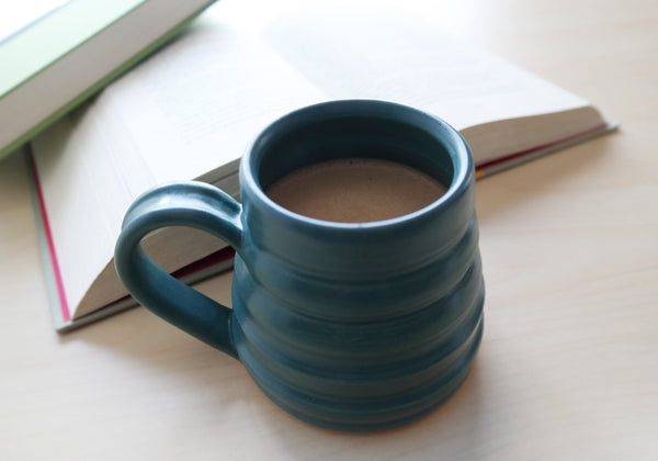 Bee Skep Pottery Mug - Ocean Blue - Stuck in the Mud Pottery