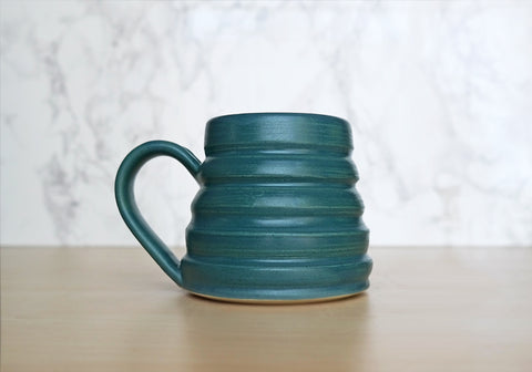 Bee Skep Pottery Mug - Navy Blue
