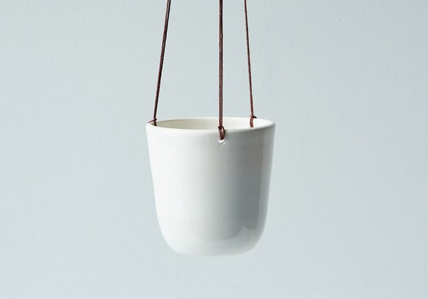 White Ceramic Hanging Planter - Stuck in the Mud Pottery