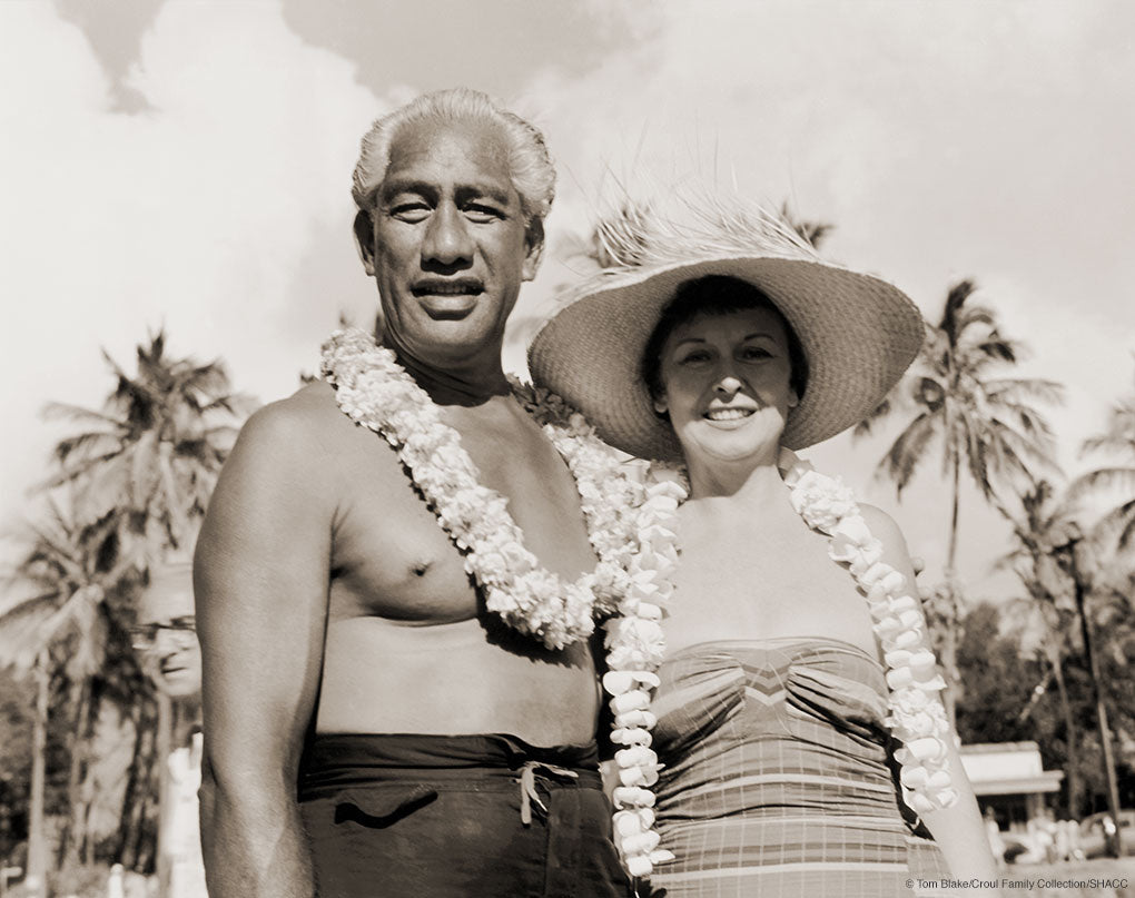 Duke and Nadine Kahanamoku • Tom Blake Collection