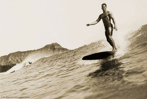 Harry Fields Surfing Waikiki • Tom Blake Collection