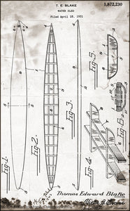 Paddleboard Blueprints • Tom Blake Collection