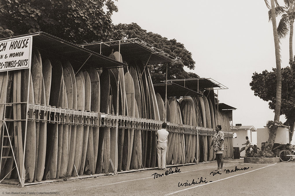 Surfboard Rental Racks • Tom Blake Collection