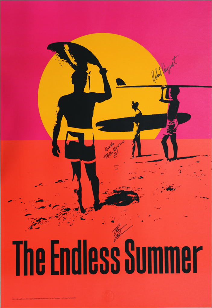Endless Summer 50th Anniversary Poster - SIGNED by Bruce, Robert, and Mike!