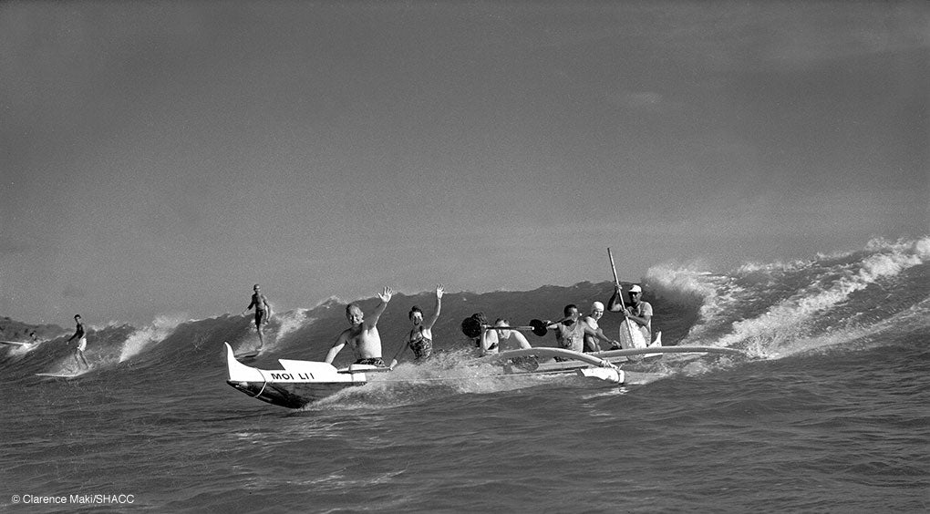 Canoe Ride, Waikiki • Clarence Maki Collection