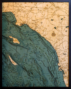 Los Angeles to San Diego Coastline Map