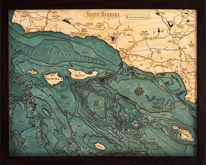 Santa Barbara and the Channel Islands Map
