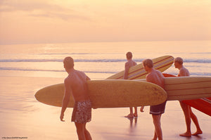 4 Surfers, Sunset Walk • Ron Stoner/SURFER Mag Collection