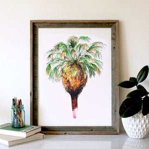Watercolor Signature Palm Tree, Wedding Guest Book Alternative
