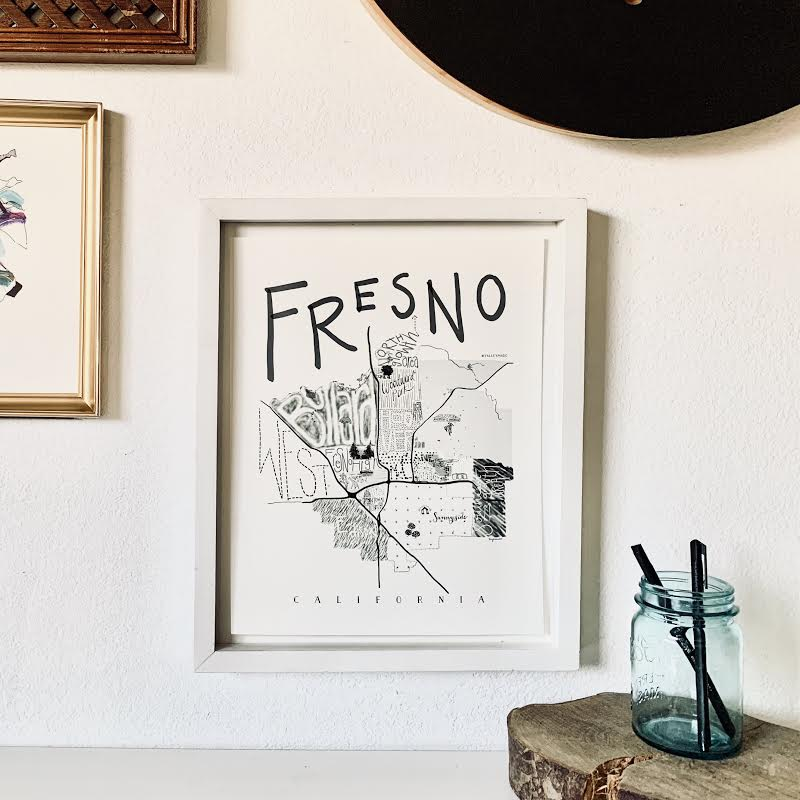 Illustrated Map of Fresno