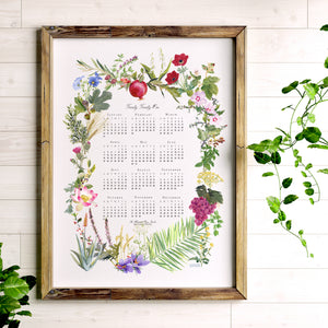 2021 Wall Calendar, The Illustrated Prayer Garden, Watercolor Botanicals of the Bible, Art Print