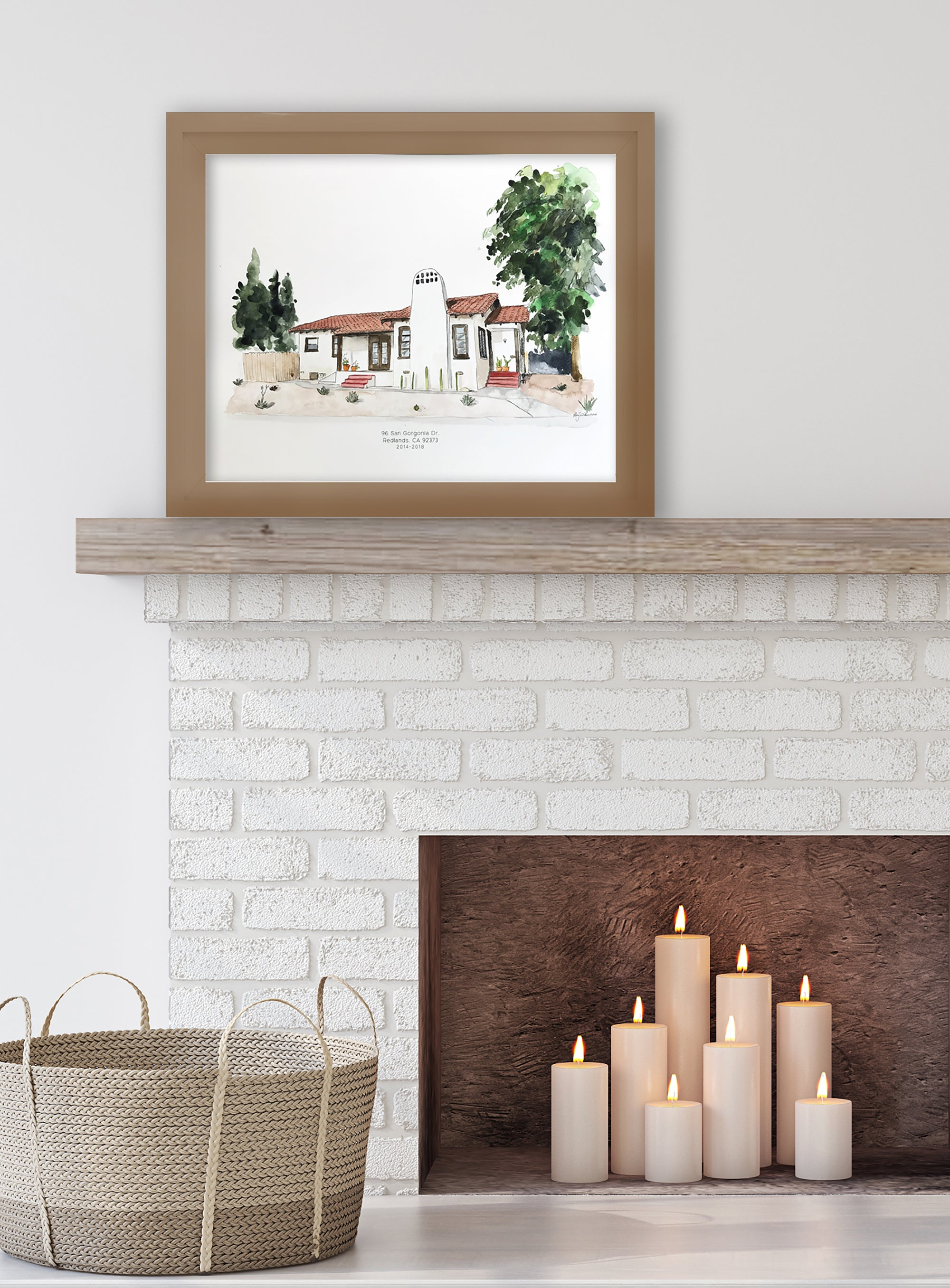 Custom Watercolor House Portrait, housewarming gift, painted wedding venue