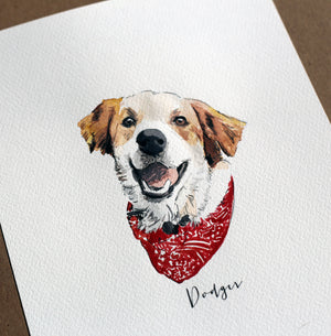 Custom Pet Portrait, Custom Watercolor