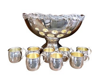 Silver-Plated Towle Punch Bowl