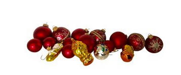 Vintage Christmas Glass Ornaments, Set of 17