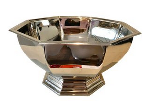 Silver-Plate Octagon Classic Bowl