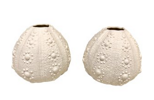 Sea Urchin Vases, a Pair