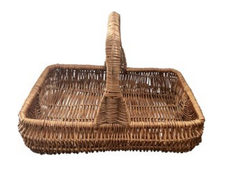 Vintage Wicker Garden Basket