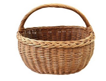 Wicker French Market Basket