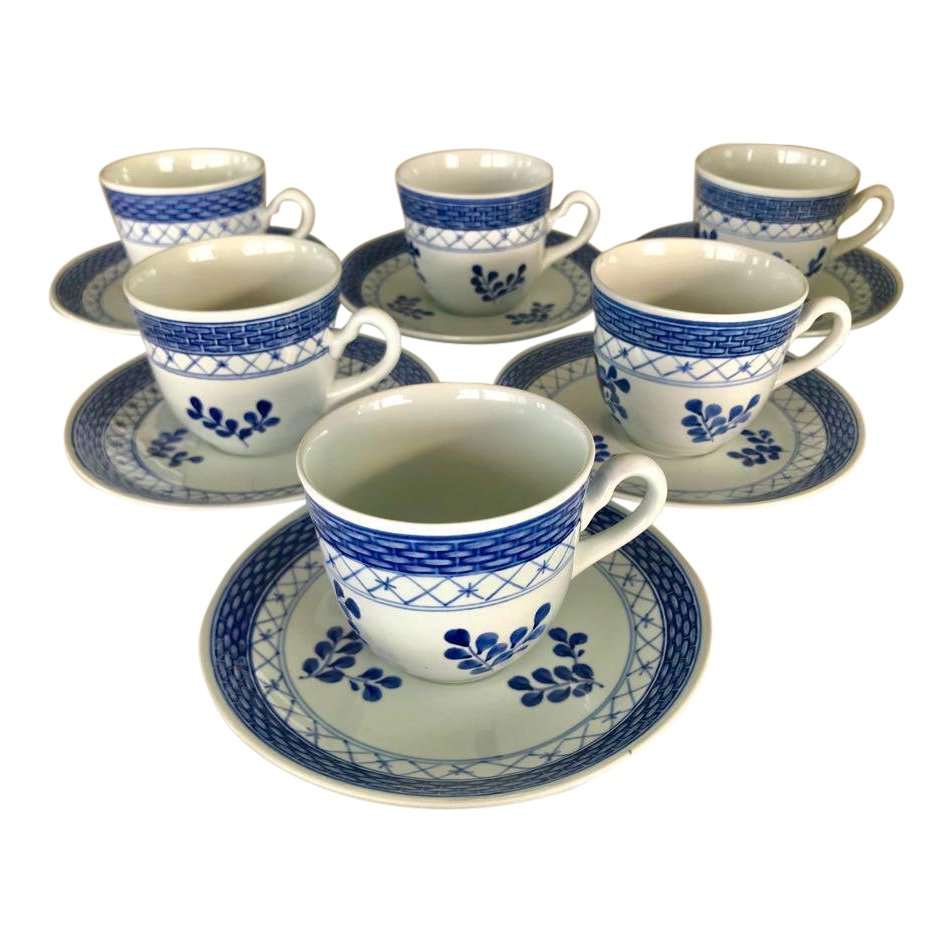 Blue & White Denmark Espresso Set