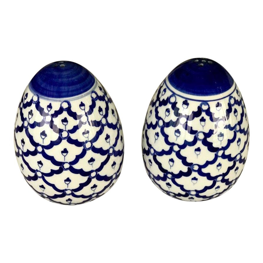 Blue & White Salt and Pepper Shakers
