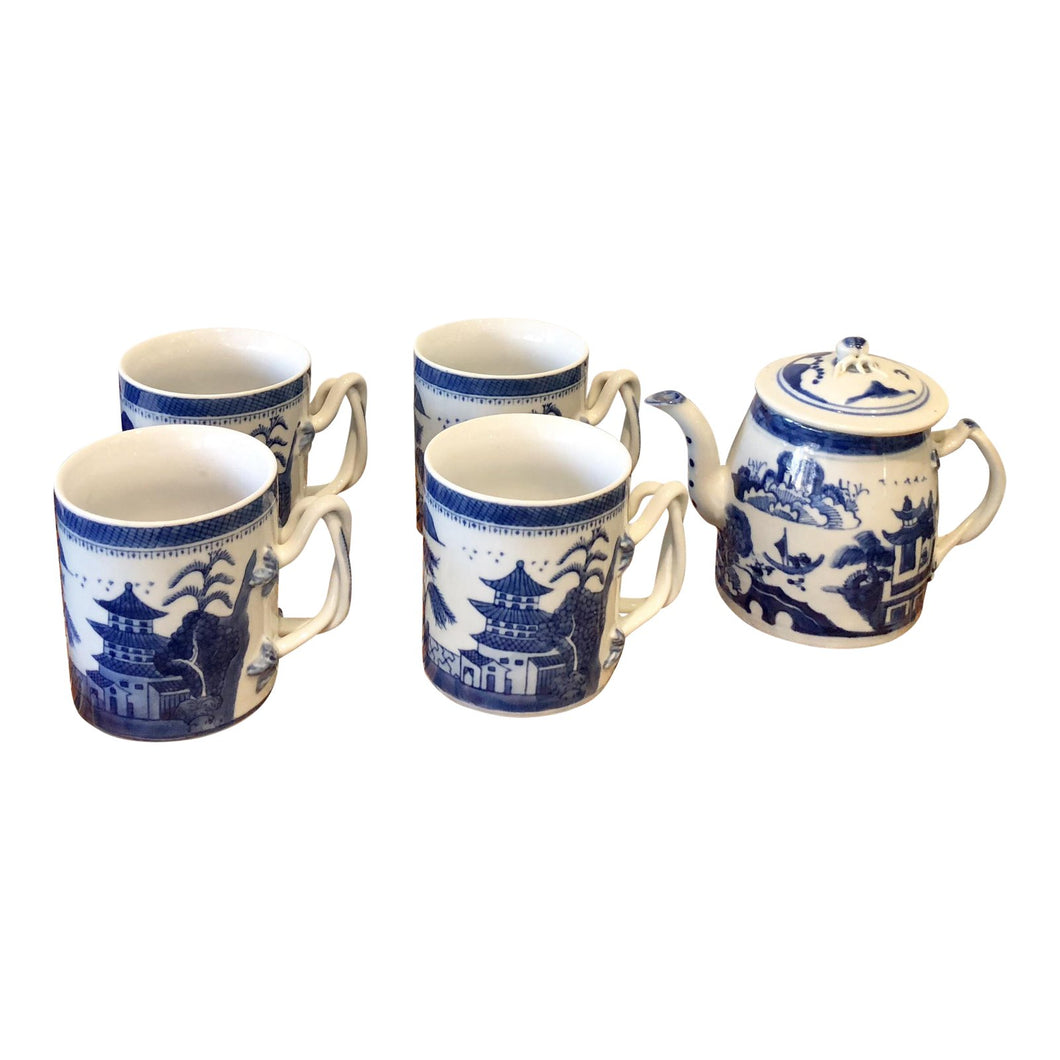 Blue & White Tea Set - Set of 6