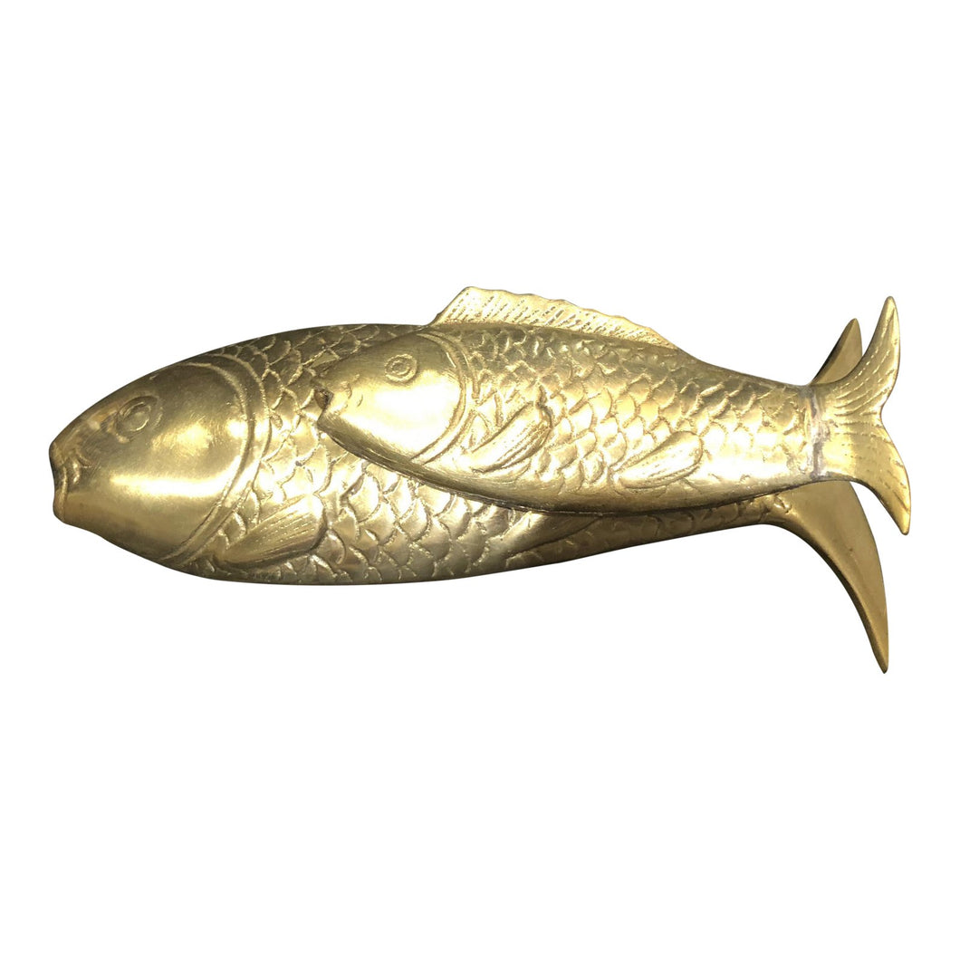 Brass Fishes Paperweight