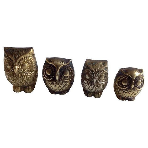 Brass Owl Family- Set of 4