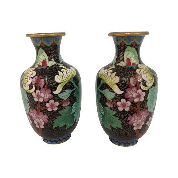 Chinese Cloisonné Vases- A Pair