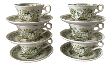 Chinoiserie Porcelain Tea Set, 12Pcs