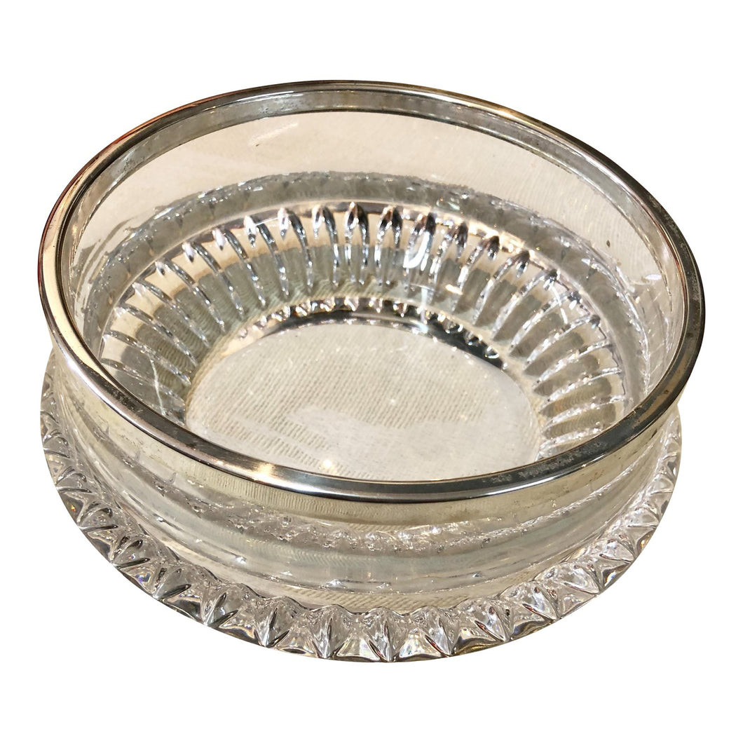 Crystal & Silver-Plated Rim Bowl