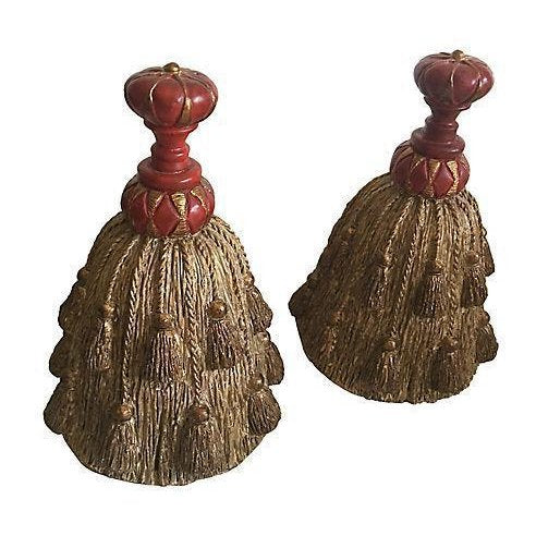 Decorative Tassel Bookends - A Pair