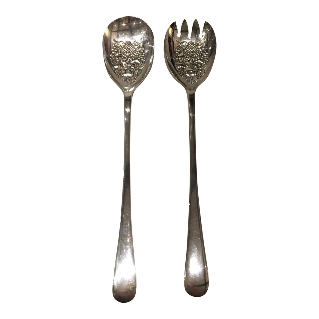 English Silver Serving Utensils - A Pair
