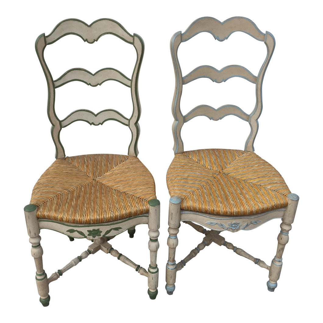 French Ladderback Chairs - A Pair