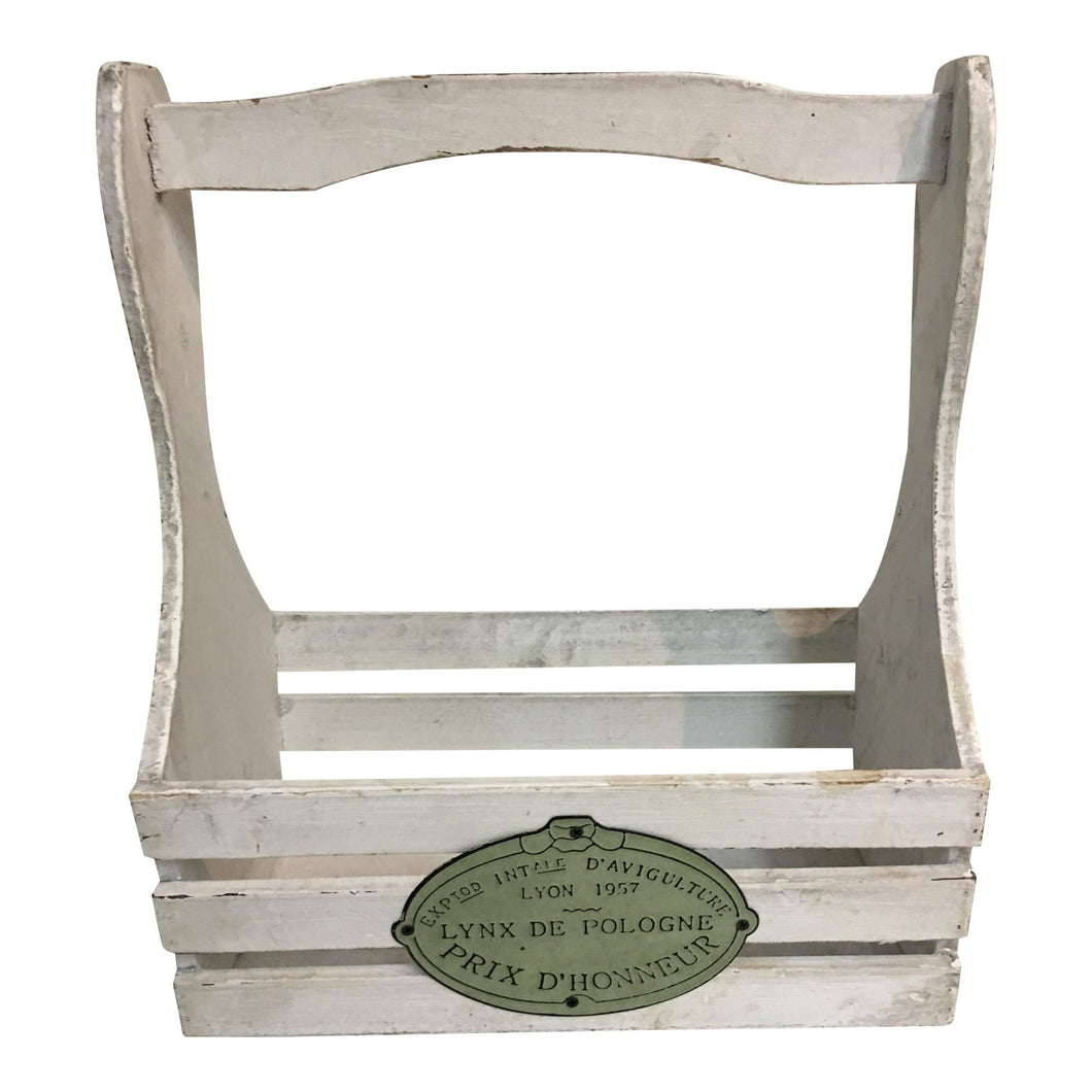 French Wood Garden Tools Caddie
