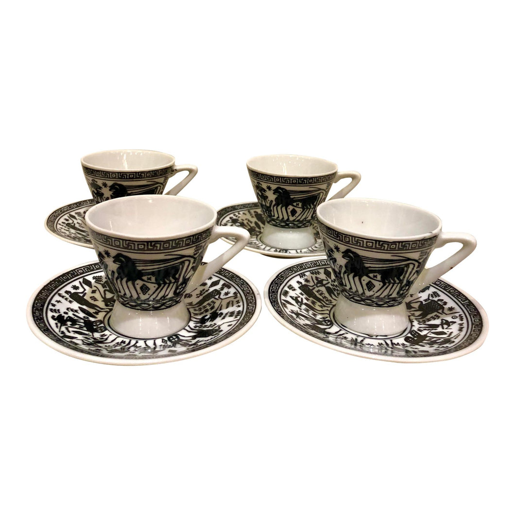 Greek Hand Painted Espresso Set