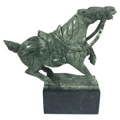 Hand Carved Jade Horse Sculpture