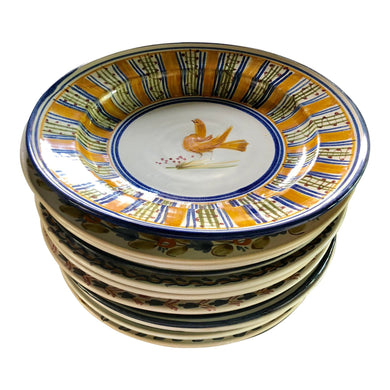 Hand-Painted Spanish Plates, Set of 12