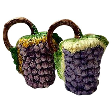 Italian Ceramic Vine Pitchers - A Pair