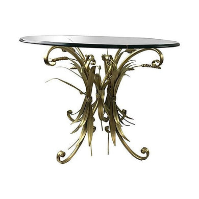 Italian Tole Sheaf of Wheat Gilt Table