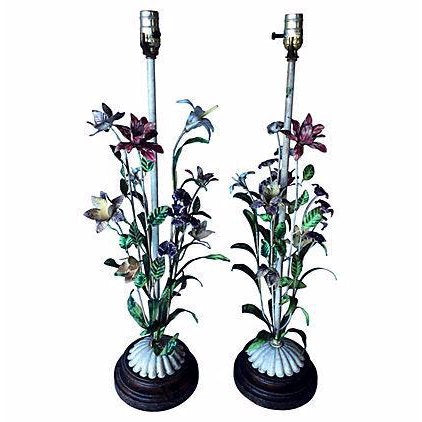 Italian Tole Table Lamps - A Pair