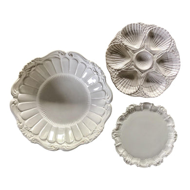 Italian White Serving Dishes, Set of 3
