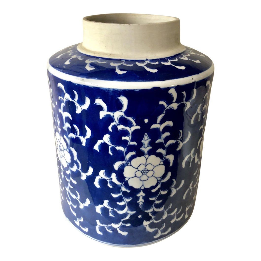 Large Blue & White Jar